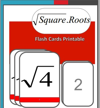 Algebra Flash Cards:  Square Roots