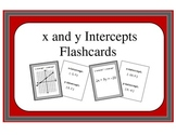 Algebra: Flashcards - Finding the x and y Intercepts from a Graph or an Equation