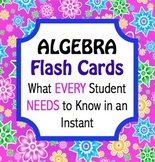 Back to School Algebra Flashcards