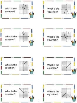 Back to School Algebra Flashcards