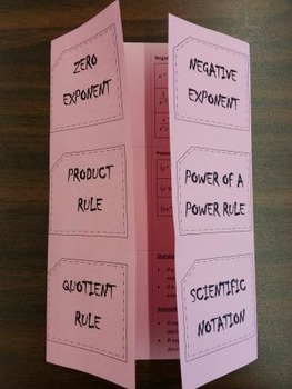 Algebra Foldables (34 included)