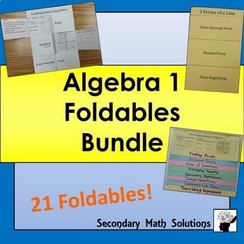 Algebra 1 Foldables Bundle