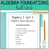 Algebra Foundations Full, Differentiated Unit (Algebra 1 C