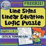 Algebra Fun, Linear Equations Puzzle, Critical Thinking, Algebra Logic Puzzle