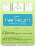 Algebra Function Transformations Puzzle Match Activity