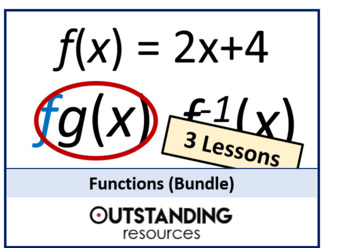 Algebra: Functions Bundle (basic, composite and inverse) - 3 lessons