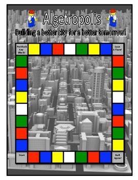 Algebra Game: Algetropolis - Combining Like Terms Game