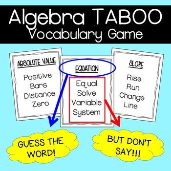 Algebra Game: TABOO