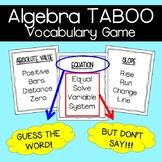 Algebra Vocabulary Game: TABOO
