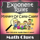 Algebra Games {Exponent Rules Activity} {Properties of Exponents Activities}