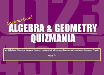 Algebra & Geometry Quizmania!