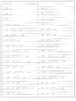 Algebra Geometry Review of operations with radicals