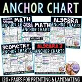 Algebra, Geometry, and Middle School Math Grade 6, 7, & 8 - Anchor Chart BUNDLE