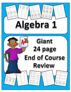 Algebra: Giant End of Course Review Packet