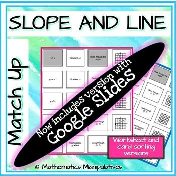 Algebra Gradient and Line Match-Up