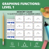 Algebra: Graphing Transformations Math Memory Game