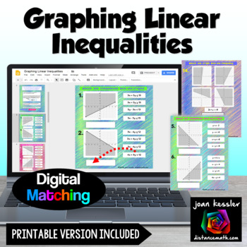 Graphing Linear Inequalities Drag & Drop Match Up with GOOGLE Slides™