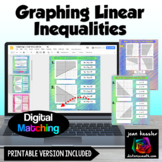 Graphing Linear Inequalities Digital Matching with GOOGLE™ plus printable