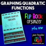 Algebra Graphing Quadratics Flip Book Foldable plus HW