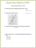Algebra Graphing Skills Assessment (Test)