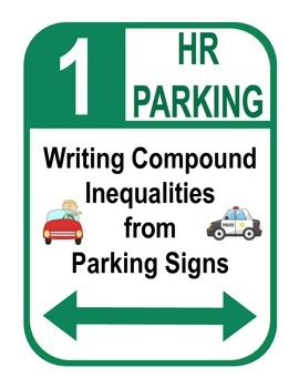 "Algebra: Graphing and Writing Compound Inequalities ""Parking Sign"" Activity"