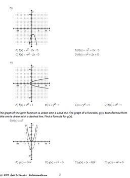 Graphs of Quadratics Task Cards  Plus HW Quiz