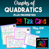 Graphs of Quadratics Task Cards  Plus HW Quiz