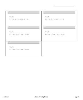 Algebra - Grouping Symbols
