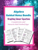 Algebra Guided Interactive Math Notebook (Bundle): Graphing Linear Equations