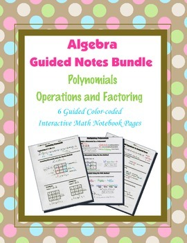 Algebra Guided Interactive Math Notebook (Bundle): Polynom