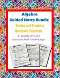 Algebra Guided Interactive Math Notebook (Bundle): Quadrat
