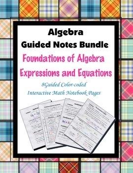 Algebra Guided Interactive Math Notebook (Bundle): Express
