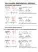 Algebra Guided Interactive Math Notebook Page: Inequalitie