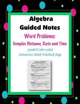 Algebra Guided Interactive Math Notebook Page: Word Problems (7)
