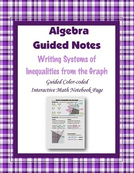 Algebra Guided Interactive Math Notebook Page: Writing Sys