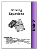 Algebra Guided Presentation Notes: Unit 2 - Solving Equations/Word Problems