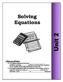 Algebra Guided Presentation Notes: Unit 2 - Solving Equati