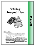 Algebra Guided Presentation Notes: Unit 3 - Solving Inequalities .