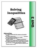 Algebra Guided Presentation Notes: Unit 3 - Solving Inequa