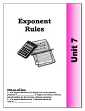 Algebra Guided Presentation Notes: Unit 7 - Exponent Rules