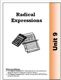 Algebra Guided Presentation Notes: Unit 9 - Radical Expressions