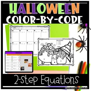 Algebra Halloween Color-An-Equation