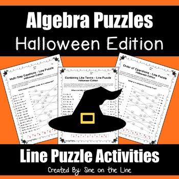 Algebra Halloween Puzzles