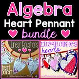 Valentine's Day Algebra Hearts Pennant Bundle