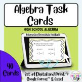 Algebra High School TX STAAR   40 Card Collection   Task C