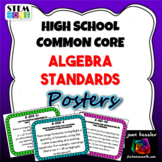 High School Math Common Core Algebra Standards Posters