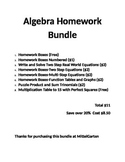 Algebra Homework Boxes Bundle