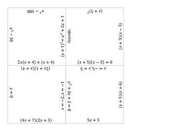 Factoring 16 Squares Puzzle
