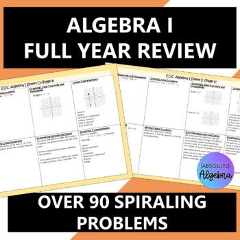 Algebra I 90 Question EOC Review