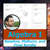 NY Algebra TEST BUNDLE: Baseline, Midterm, & Final Exam + Student Solutions